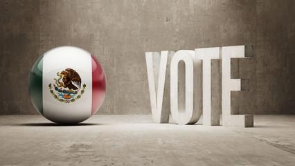 Mexico. Vote Concept.