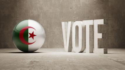 Algeria. Vote Concept.