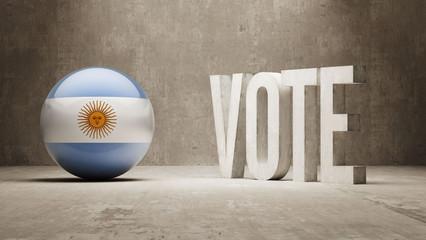 Argentina. Vote Concept.
