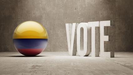 Colombia. Vote Concept.