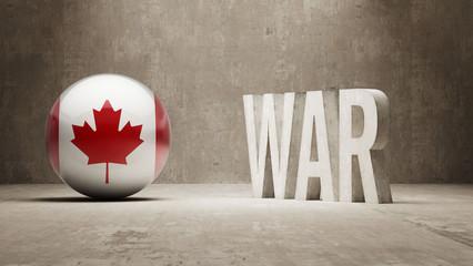 Canada. War Concept.