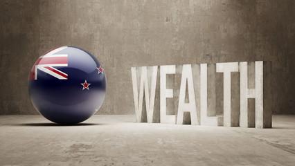 New Zealand. Wealth Concept.