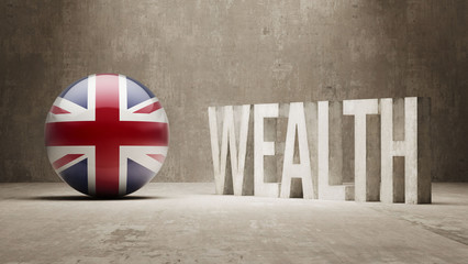 United Kingdom. Wealth Concept.