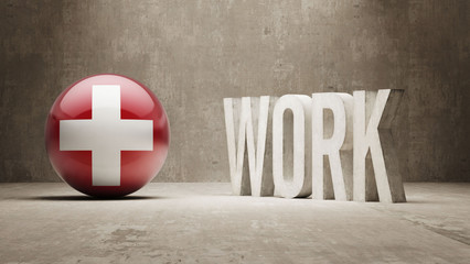Switzerland. Work Concept.