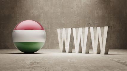 Hungary. WWW Concept.