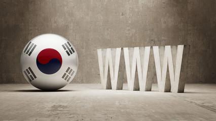 South Korea. WWW Concept.