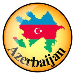 orange button with the image maps of Azerbaijan