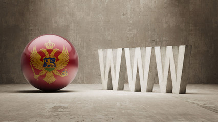 Montenegro. WWW Concept.