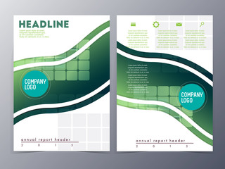 abstract green geometric pattern brochure design template vector