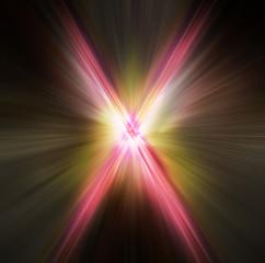abstract light aura x symbol