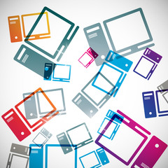 abstract background: computer