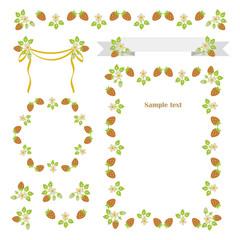 Strawbery frame,border,banner
