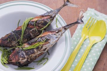 Grilled fish menu