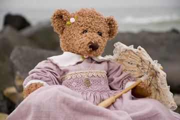 Teddy bear at the sea