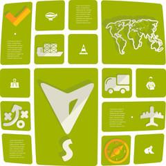 navigation flat infographic