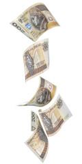 Spadające banknoty 200 PLN