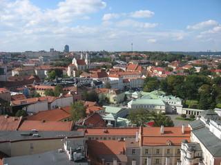 Старый Вильнюс из чердачного окна