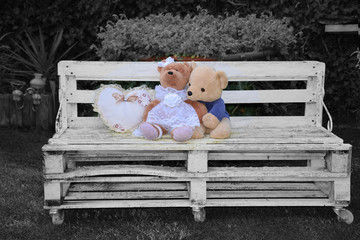 Loving on the bench