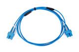 blue fiber optic duplex SC connector patchcord poster