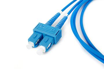 blue fiber optic duplex SC connector patchcord