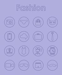 Set of fashion simple icons