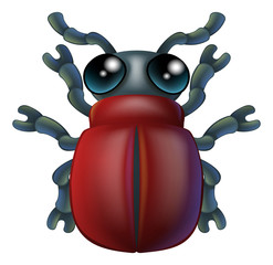 Cartoon insect bug character