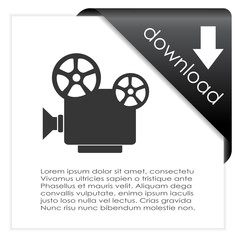 Video file download icon