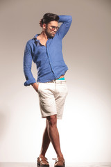 handsome young fashion man standing