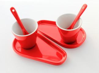 Tasses  rouge