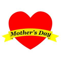 Corazon con cinta Mother's Day