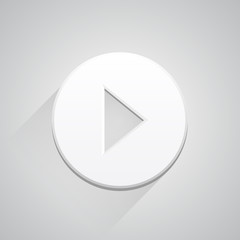 Play icon button on white background