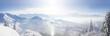 Leinwandbild Motiv Panoramic view across the French Alps