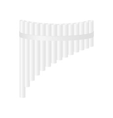 Pan flute in white design