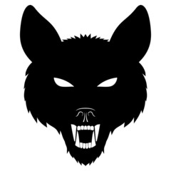 Vector sign. Wolf.