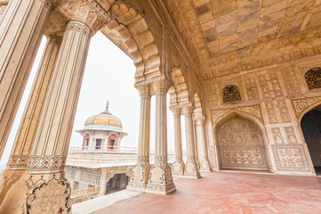 Marble Palaces in Agra Fort, India