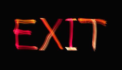 Exit written in light