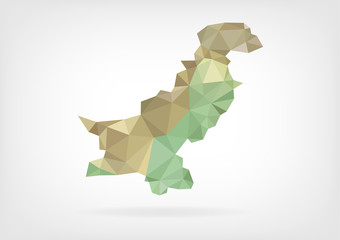 Low Poly map of Pakistan