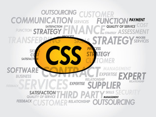 CSS word cloud, business concept
