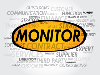 MONITOR word cloud, business concept
