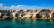 Leinwanddruck Bild - sea caves at Cape Greco, Cyprus