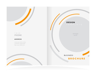 brochure design template vector geometric abstract circle