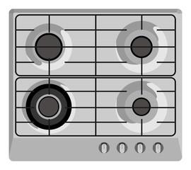 Gray stove