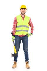 Lumberjack posing