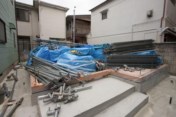 住宅建設 上棟の準備