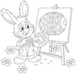 Easter Bunny painter - 77873348