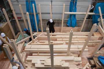 木造住宅の上棟