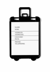 Blank suitcase tag