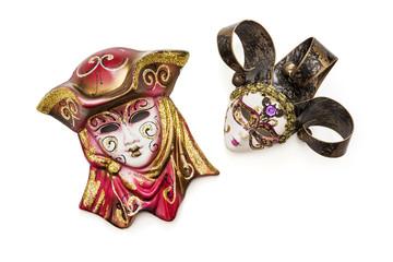 Two beautiful masquerade carnival masks