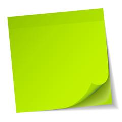 Green Stick Note Pad