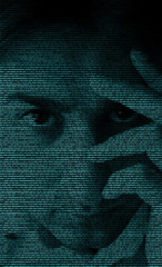 Binary code portrait
